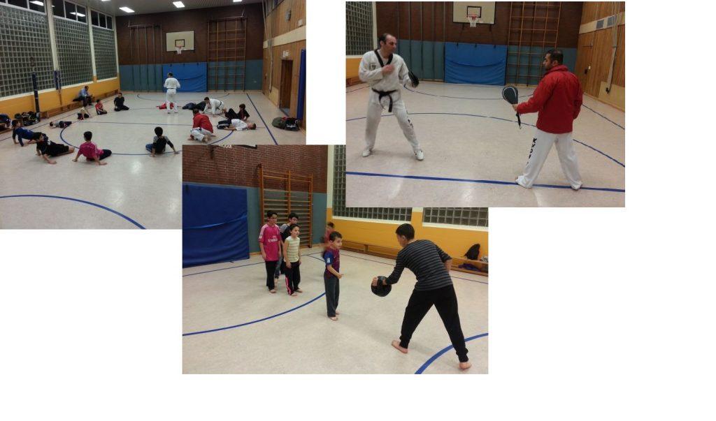 Bilder von den ersten Trainingseinheiten im Kampfsport Taekwondo in Dietzenbach